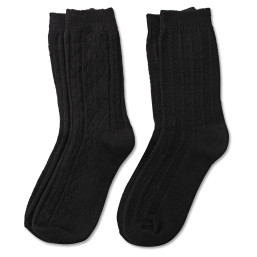 Luxe Cable Crew Sock
